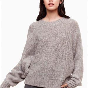 ⭐️Aritzia Babaton Day Off sweater grey❤️Alpaca made, soft & warm!⭐️